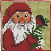 Santa and Bird - Permin Cross Stitch Kit