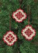 Permin Hardanger Ornaments 1 Embroidery Kit