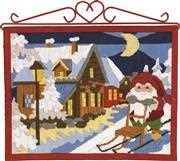 Elf with Sledge - Permin Long Stitch Kit