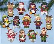 Design Works Crafts Christmas Friends Ornaments Craft Kit