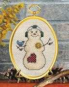 Snowman & Bluebird - Janlynn Cross Stitch Kit