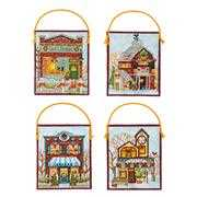 Dimensions Winter Village Ornaments Cross Stitch Kit