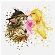 Kitten and Duckling - Luca-S Cross Stitch Kit