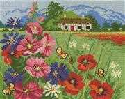 Summer Meadow - DMC Cross Stitch Kit