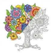 Janlynn Zen Color - Tree Coloring Canvas Kit Craft Kit
