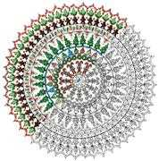 Zenbroidery Printed Fabric - Christmas Mandala - Design Works Crafts Embroidery Fabric