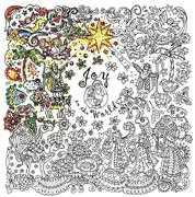 Design Works Crafts Zenbroidery Printed Fabric - Joy to the World Embroidery