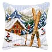 Snow Fun Cushion - Vervaco Cross Stitch Kit