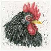 Lanarte Black Chicken Cross Stitch Kit
