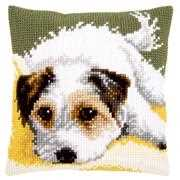 Dog Wagging Tail Cushion - Vervaco Cross Stitch Kit
