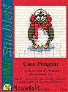 Cosy Penguin - Mouseloft Cross Stitch Card Design
