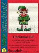 Christmas Elf - Mouseloft Cross Stitch Card Design
