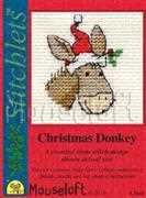 Christmas Donkey - Mouseloft Cross Stitch Card Design