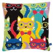 Funny Cats Cushion - Vervaco Cross Stitch Kit