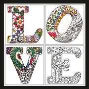 Zenbroidery - Love - Design Works Crafts Embroidery Fabric