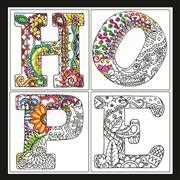 Zenbroidery - Hope - Design Works Crafts Embroidery Fabric