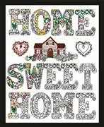 Design Works Crafts Zenbroidery - Home Sweet Home Embroidery Fabric