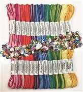 Design Works Crafts Zenbroidery Variegated Trim Pack Embroidery