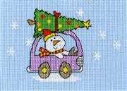 Dashing Through the Snow Card - Bothy Threads Cross Stitch Kit