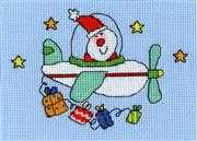 Flying Home for Christmas Card - Bothy Threads Cross Stitch Kit
