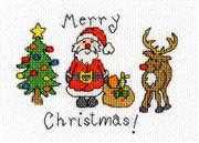 Merry Christmas Card - Bothy Threads Cross Stitch Card Design