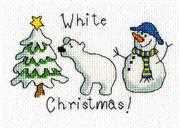 White Christmas Card - Bothy Threads Cross Stitch Card Design