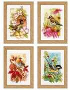 Four Seasons Miniatures - Set of 4 - Vervaco Cross Stitch Kit