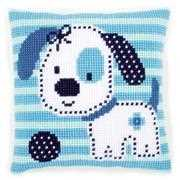 Spotted Little Dog Cushion - Vervaco Cross Stitch Kit