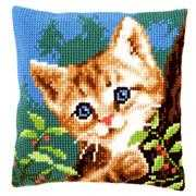 Vervaco Cat on a Tree Cushion Cross Stitch Kit