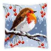 Red Robin Cushion - Vervaco Cross Stitch Kit