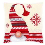 Vervaco Christmas Elf Cushion Cross Stitch Kit