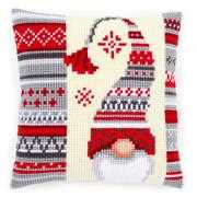 Vervaco Scandi Elf Cushion Christmas Cross Stitch Kit