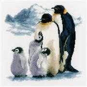 Vervaco Penguin Family Cross Stitch Kit