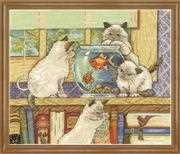 Goldfish Cats - Design Works Crafts Cross Stitch Kit
