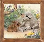 RIOLIS Lamb and Rabbit Cross Stitch Kit