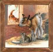Goat and Kittens - RIOLIS Cross Stitch Kit