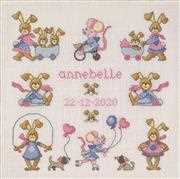 Playtime Girls Sampler - Permin Cross Stitch Kit