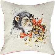Chimp and Cheetah Cushion - Luca-S Cross Stitch Kit