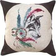 Native Wolf Cushion - Luca-S Cross Stitch Kit