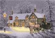 Christmas Inn - Evenweave - Heritage Cross Stitch Kit