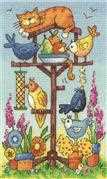 Bird Table - Evenweave - Heritage Cross Stitch Kit