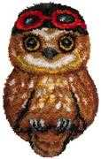 Needleart World Ari the Owl Latch Hook Rug Kit