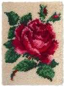Single Rose - Needleart World Latch Hook Kit