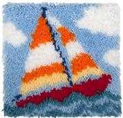 Needleart World Sail Boat Latch Hook Kit