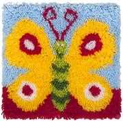 Needleart World Pretty Butterfly Latch Hook Kit