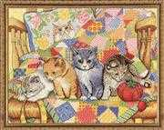 Rocking Chair Kittens - Design Works Crafts Cross Stitch Kit