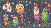 Christmas Owls - Evenweave - Heritage Cross Stitch Kit