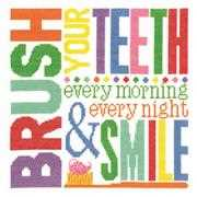 Brush Your Teeth - Janlynn Cross Stitch Kit