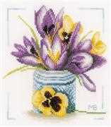 Lanarte Crocus Cross Stitch Kit