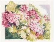 Lanarte Geraniums Cross Stitch Kit